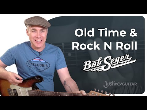 Old Time Rock And Roll - Bob Seger - Very Easy Beginner Guitar Lesson Tutorial (BS-125)