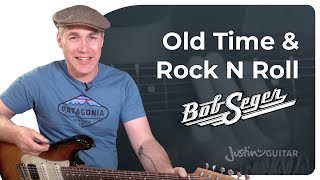 old time rock and roll bob seger very easy beginner guitar lesson tutorial bs 125
