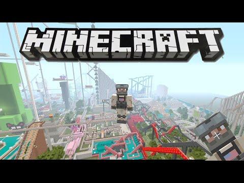 Minecraft- Huge Amusement Park!! Ep.2 (Alton Towers Rides)