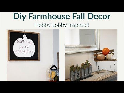 Diy Farmhouse Fall Decor Inspired by Hobby Lobby