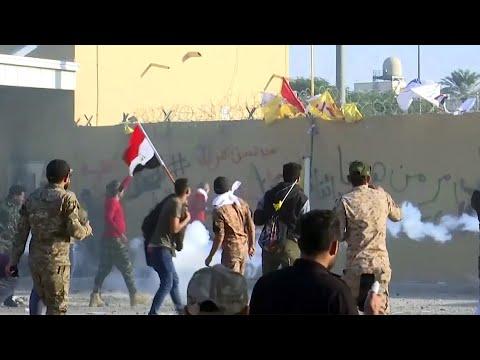 В Багдаде возобновились беспорядки рядом с посольством США.
