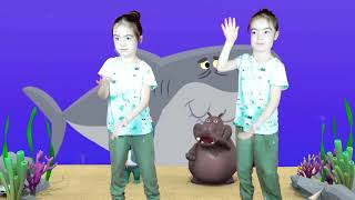 BARNVISOR Baby Dance with Baby Shark Song | Nursery Rhymes for Kids with twins