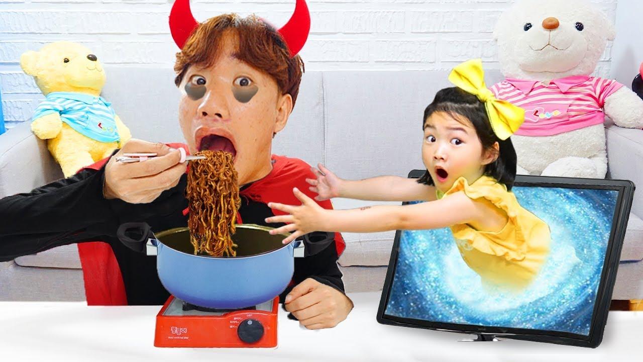 보람이와 별이의 하버랜드 키즈카페에서 뽀로로 짜장면 먹기 Pororo Black Noodle in HarborLand Gateway Ekamai
