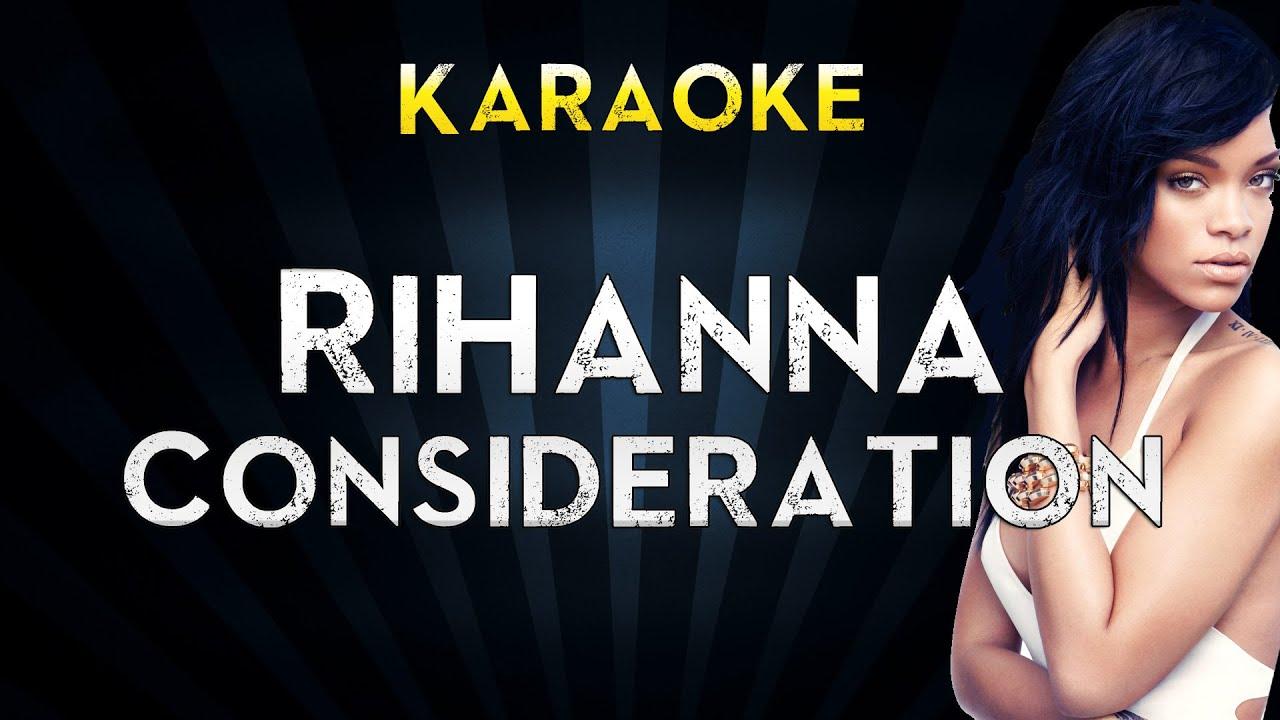 Rihanna Feat. Sza - Consideration | Official Karaoke Instrumental Lyrics Cover Sing Along