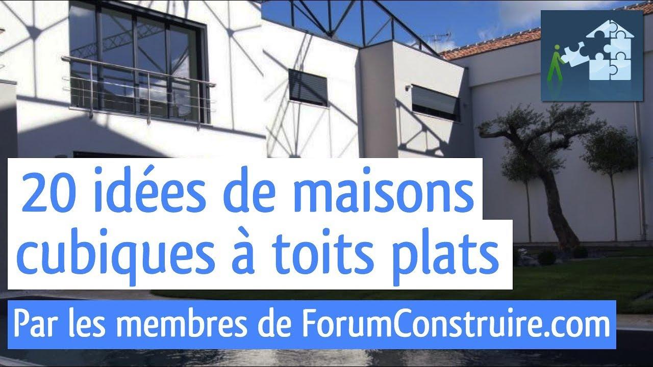 20 idées de maisons toit plat - cubique - container - YouTube