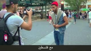 يمني يصارع ! ملاكم امربكي في ملاكمة في الشارع