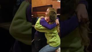 Soldier comes home to surprise little brother