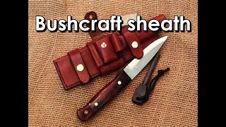 Download Making a leather sheath for a bushcraft knife Mp3 and Videos