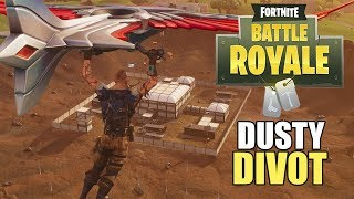 Dropping at Dusty Divot! - Fortnite Battle Royale Gameplay - Xbox One X - Victory Royale