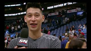 Jeremy Lin (14 Pts, 3 asts ) PostGame Interviews 2019-03-08 Pelicans VS Raptors