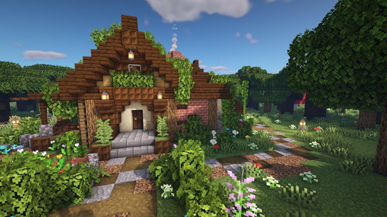 Minecraft Aesthetic Starter Survival Cottage Tutorial ...