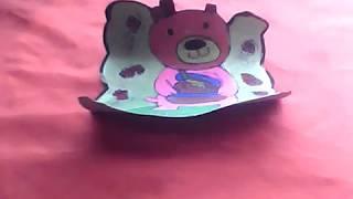 teddy bear card made by bhavdeep kour