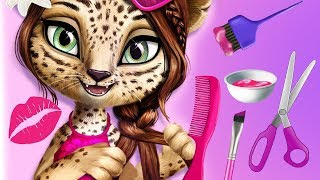 Fun Jungle Animals Hair Salon 2 Tropical Pets Style & Colors Hair & Nails Makeover Kids & Girls Game