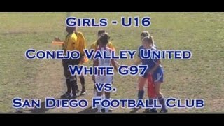 Conejo Valley United G97 v SDFC (3/30/14)