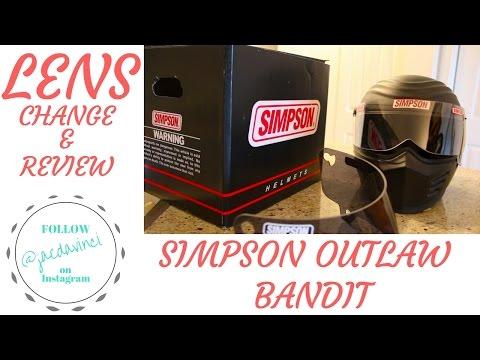 SIMPSON OUTLAW BANDIT Helmet Dark smoked shield change&comparison