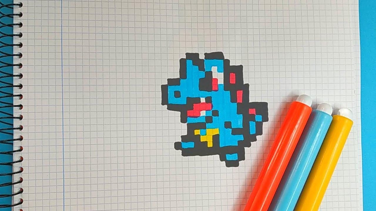 How To Draw Totodile Pokemon Pixel Art Tutorial