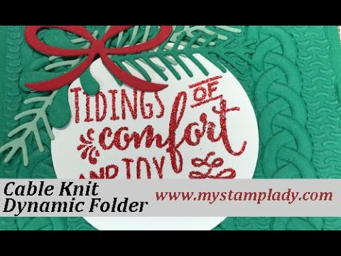 Stampin Up Cable Knit Dynamic Folder Youtube
