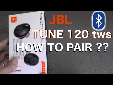 How To Pair Jbl Tune120tws Wireless In Ear Headphones By Bluetooth Youtube