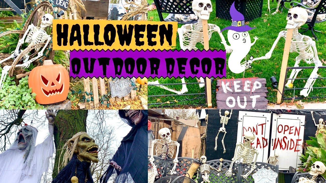 Halloween Outdoor Decorations2019| Halloween Neighbourhood Haunted House Decorations| Canada Vlogs
