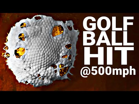 How Hard Can You Hit a Golf Ball? (at 100,000 FPS) - Smarter Every Day 216
