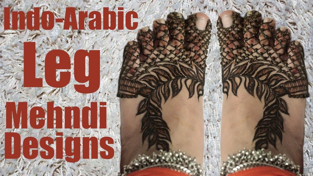 Leg Mehndi Designs Step By Step : Easy indo arabic leg mehndi design step by tutorial