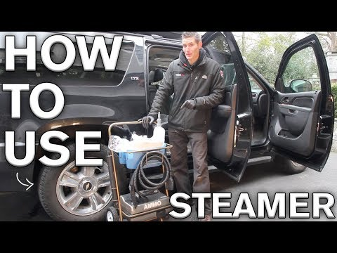 How do you steam clean a car carpet