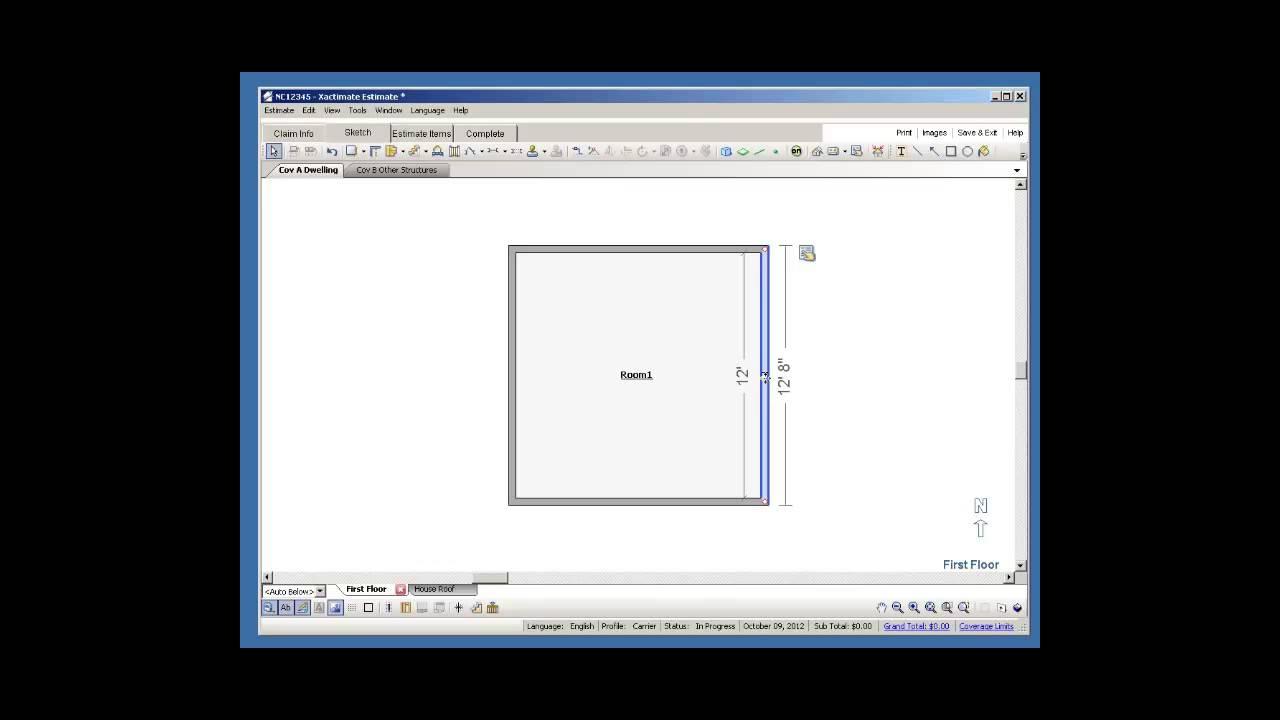 Xactimate Free Demo Floor Plan Sketch!
