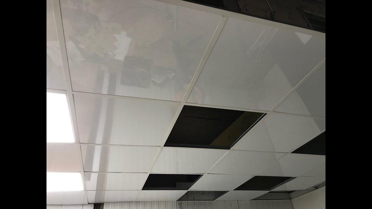 Faux Plafond Suspendu En Dalles Isolantes dalle de faux plafond suspendu démontable 60x60 modulaire ininflammable  décorative