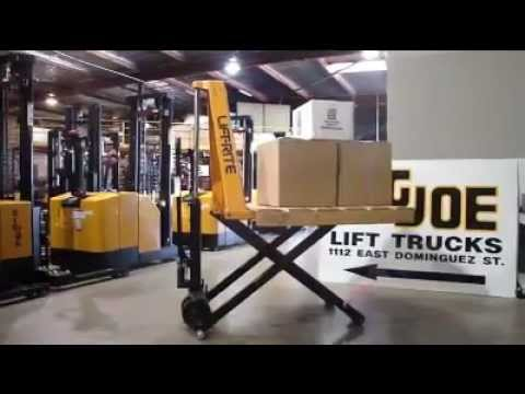 Big Joe Ergolift High Lifting Pallet Truck Youtube