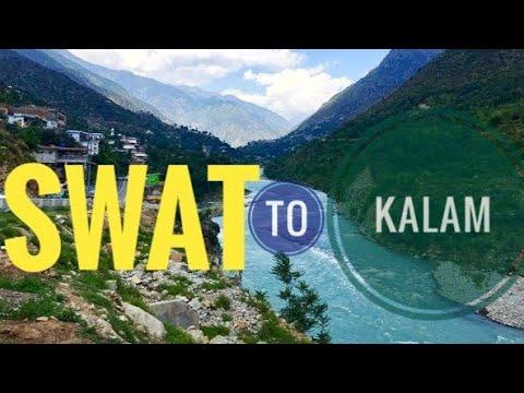 Swat to Kalam Journey via Saidu Airport Road (Till Behrain) - Northern Areas of Pakistan