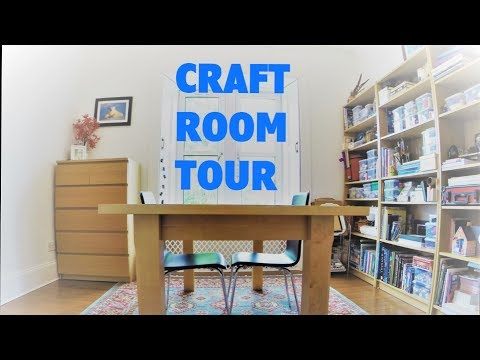 Craft Room Tour / Budget Makeover / Storage and Organization Ideas
