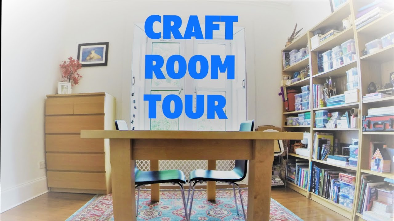Craft rooms on a budget - Craft Room Tour Budget Makeover Storage And Organization Ideas