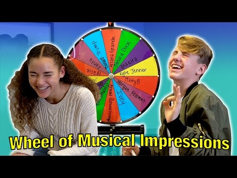 Wheel of Musical Impressions! (MattyBRaps vs Gracie Haschak)