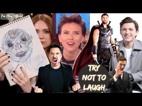 Avengers: Infinity War Cast Play Funny Games(Part-2) - Try Not To Laugh 2018
