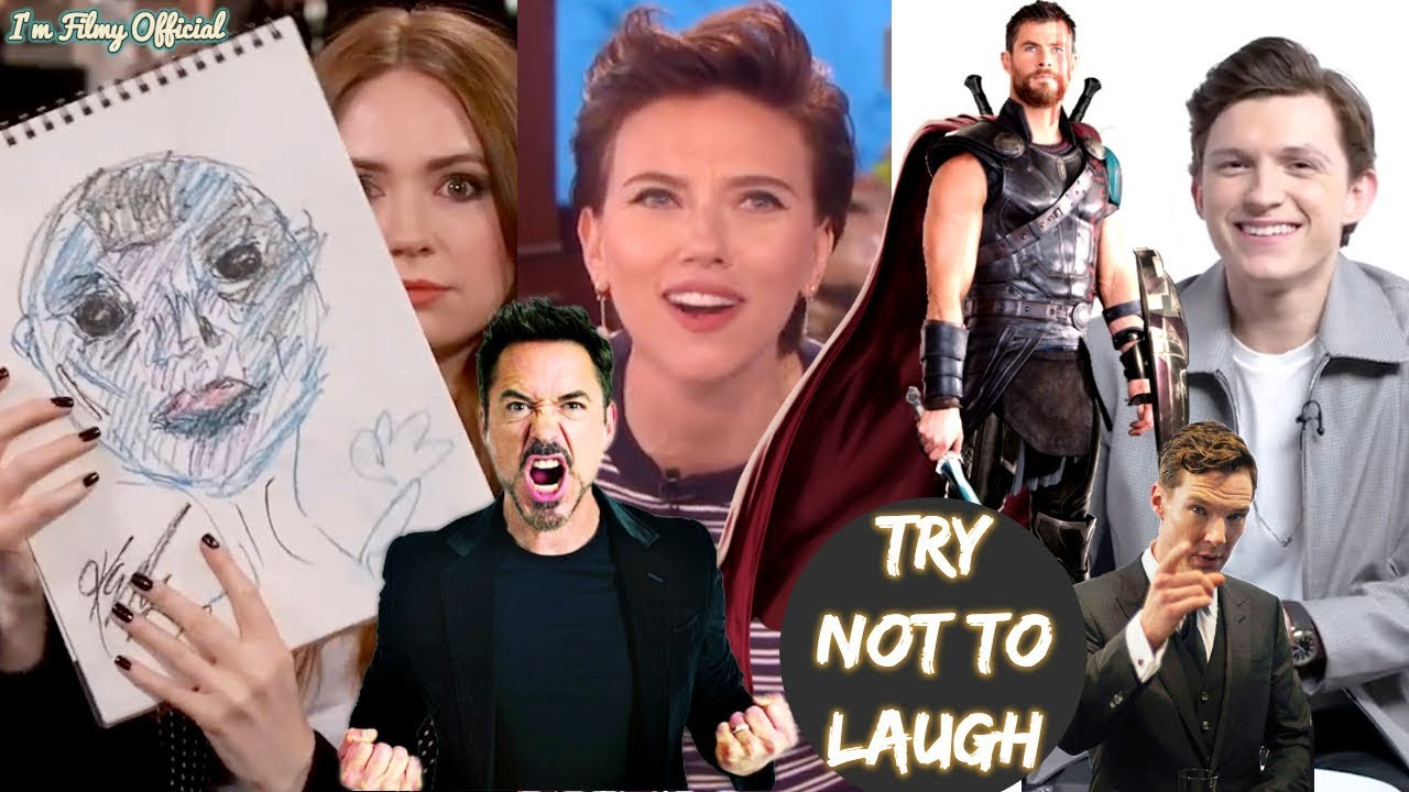 avengers: infinity war cast play funny games(part-2) - try not to