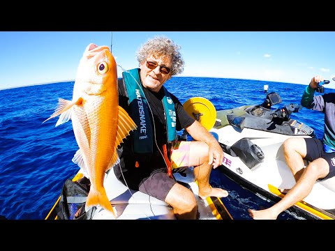 JetSki Deep Sea Fishing GIANT GOLDFISH On A Hand Line With My Dad & Brother (Part 1) - Ep 220