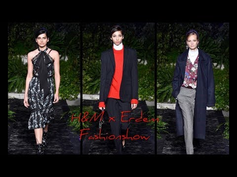 H&M x Erdem Fashionshow - Model and Celebrity Pictures