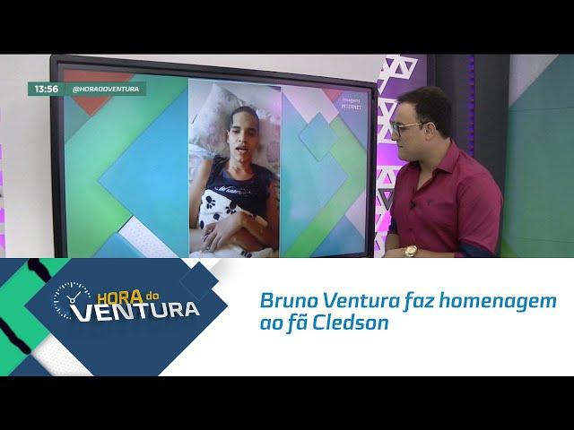 Bruno Ventura faz homenagem ao fã Cledson - Bloco 01