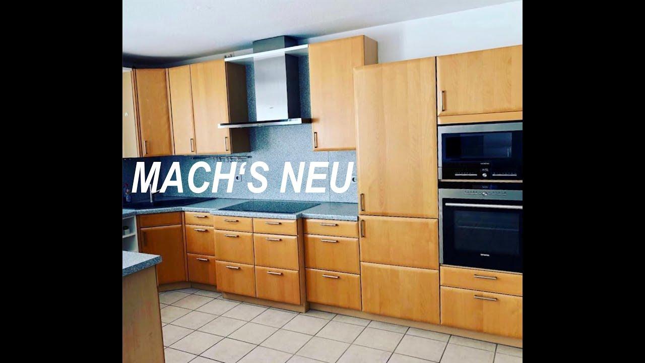 Küche folieren vorher nachher von Fa Klinger Möbelfolie