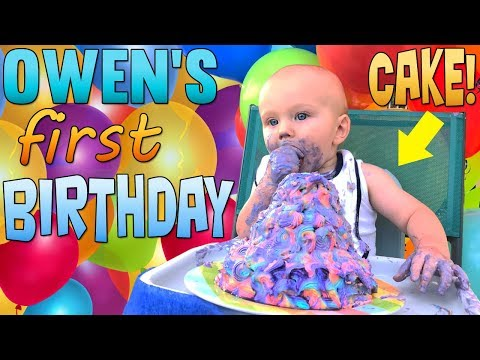 Baby Owen's First Birthday Party!!