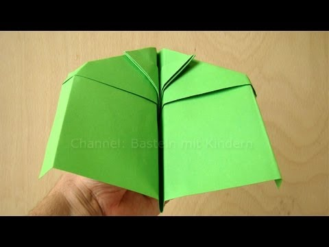 papierflieger anleitung papier falten origami flieger basteln mit papier youtube. Black Bedroom Furniture Sets. Home Design Ideas