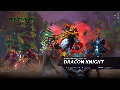 Mid Dragon Knight Do Dota 2 No Patch 7.23e Ranked    Dota 2