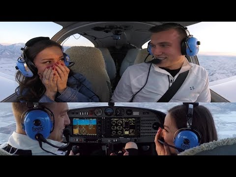 Airplane Marriage Proposal at 8500 feet
