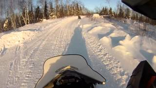 Trail riding in Abitibi Quebec