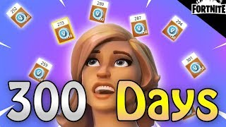 FORTNITE - 300 Days Daily Login Reward (All Vbuck Rewards Between 250 - 300 Days)