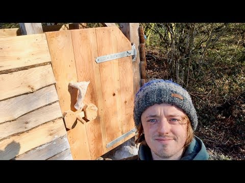 Off Grid Solar Shower And Compost Toilet Part 7 Homemade Doors And Latches