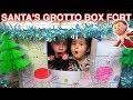 SANTA'S GROTTO BOX FORT CHRISTMAS PRESENT FOR MY ELF ON THE SHELF!!