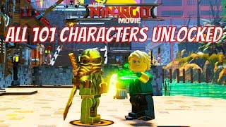 The LEGO Ninjago Movie Video Game - All 101 Characters Unlocked With Gameplay