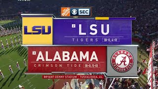 2019 NCAA CFB | SEC on CBS Intro/Theme (LSU vs Alabama)