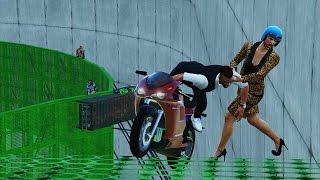 ONMOGELIJKE MOTOR PARKOUR - GTA 5 Online Funny Moments